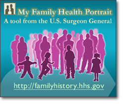 My Family Health Portrait banner. Click to visit the website