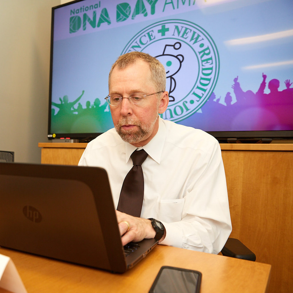 Dr. Green at DNA Day