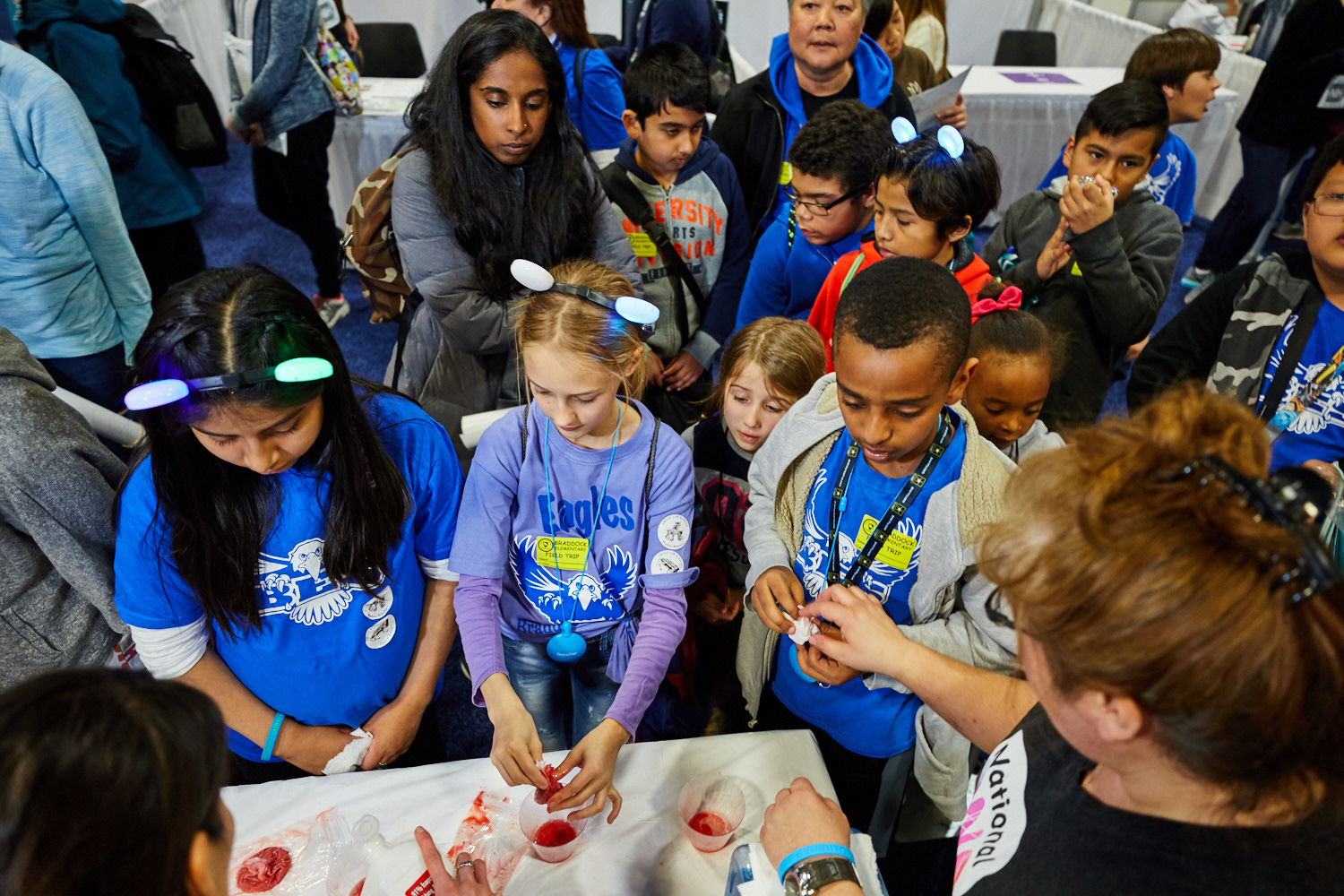 Children participate in the 2018 USA Science and Engineering Festival