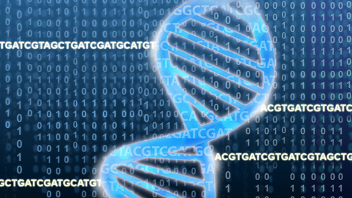 double helix on top of genomic data
